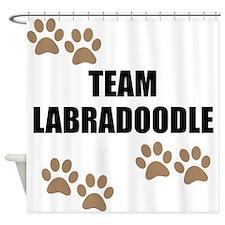 Team Labradoodle Shower Curtain