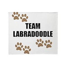 Team Labradoodle Throw Blanket