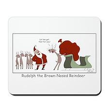 Brown Nosed Reindeer Mousepad