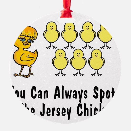 jersey chick2 Ornament