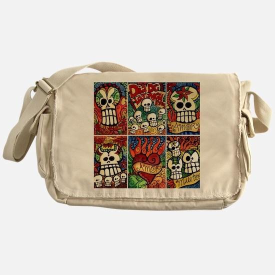 Day of the Dead Sugar Skulls Messenger Bag