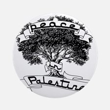 peace_in_palestine_t_shirt Round Ornament