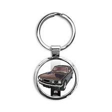 2-652silverbar Round Keychain