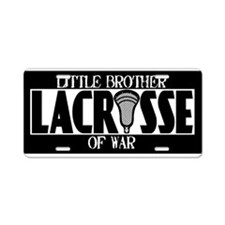Lacrosse Little Brother of War Aluminum License Pl
