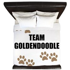 Team Goldendoodle King Duvet