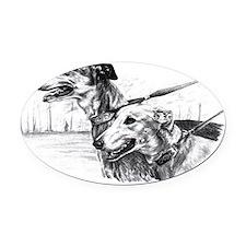 greyhounds133 Oval Car Magnet