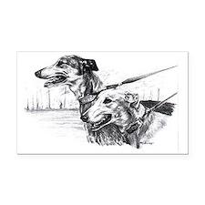 greyhounds133 Rectangle Car Magnet