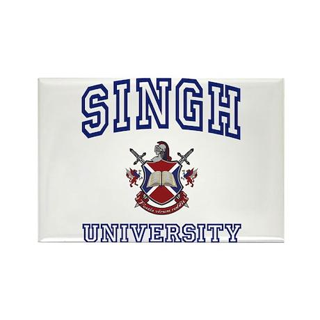 SINGH University Rectangle Magnet