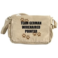 Team German Wirehaired Pointer Messenger Bag