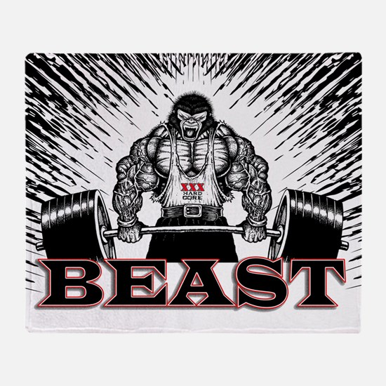 The Beast Poster Throw Blanket