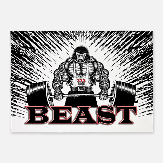 The Beast Poster 5'x7'Area Rug