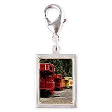 (15s) caboose line Silver Portrait Charm