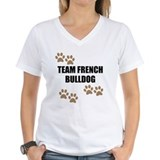 French bulldog Womens V-Neck T-shirts