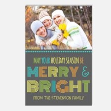 Colorful Merry And Bright Postcards