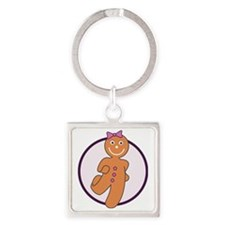 ginger-purple Square Keychain