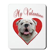 Bulldog Valentine Mousepad