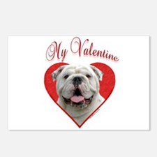 Bulldog Valentine Postcards (Package of 8)