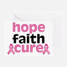 Hope Faith Cure Greeting Card