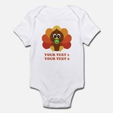 Personalize Baby Turkey Infant Bodysuit