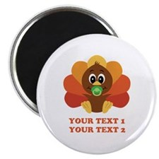 Personalize Baby Turkey Magnet