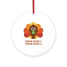 Personalize Baby Turkey Ornament (Round)