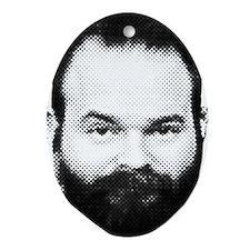 fear_the_beard Oval Ornament