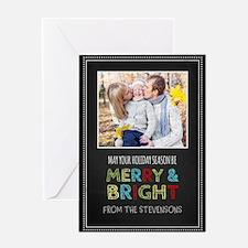 Chalkboard Christmas Photo Greeting Card