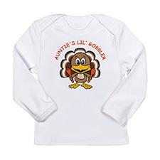 Auntie's Lil' Gobbler Long Sleeve Infant T-Shirt