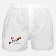 QUIT SMOKING Boxer Shorts