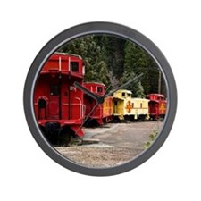 (14) caboose line Wall Clock