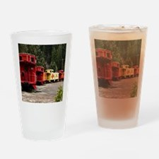 (14) caboose line Drinking Glass