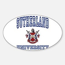 SUTHERLAND University Oval Decal