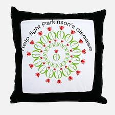pd wreath help fight Throw Pillow