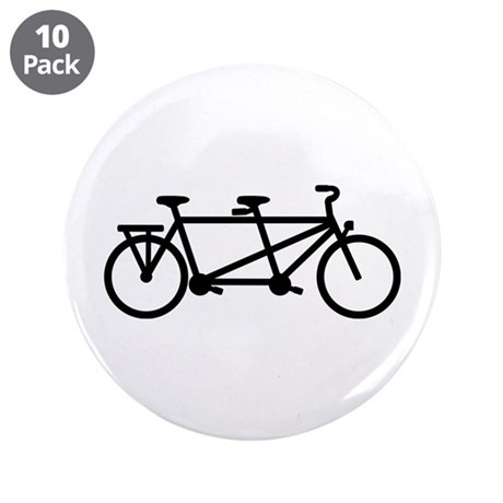 "Tandem Bicycle 3.5"" Button (10 pack)"