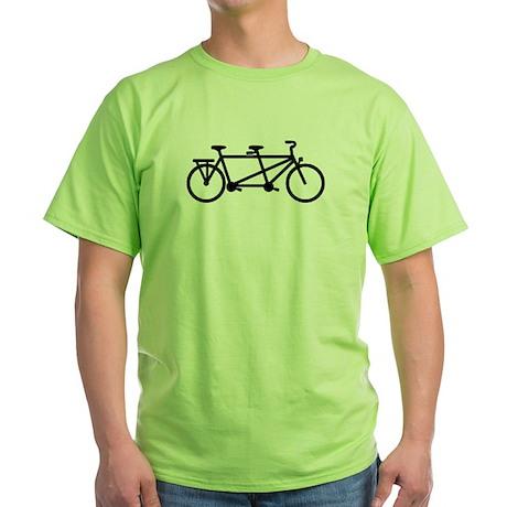 Tandem Bicycle Green T-Shirt