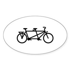 Tandem Bicycle Decal