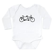 Tandem Bicycle Long Sleeve Infant Bodysuit
