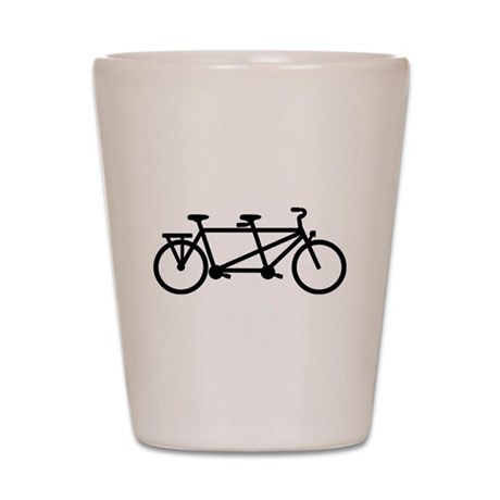Tandem Bicycle Shot Glass