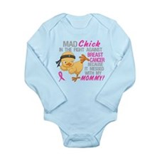 Mad Chick 3L Breast Cancer Long Sleeve Infant Body