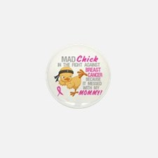 Mad Chick 3L Breast Cancer Mini Button (10 pack)