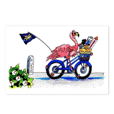 Key West Flamingo Postcards (Package of 8)