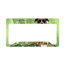 Boxer_Lucky_Charm5x7 License Plate Holder