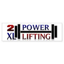 2XL Powerlifting Bumper Sticker