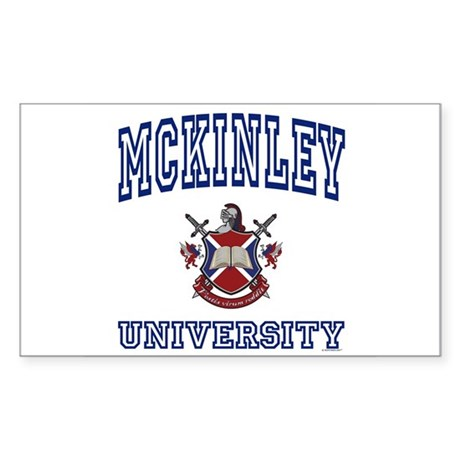 MCKINLEY University Rectangle Sticker