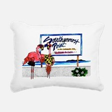 Southernmost Flamingo Rectangular Canvas Pillow