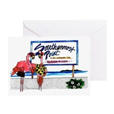 Southernmost Flamingo Greeting Card