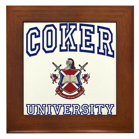 COKER University Framed Tile