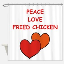 fried chicken Shower Curtain