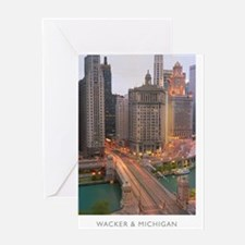 11x17-REV1-WACKER-AND-MICHIGAN Greeting Card