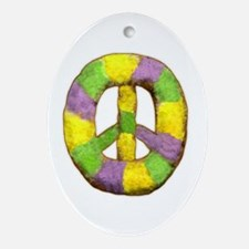 Peace of 'King' cake Oval Ornament